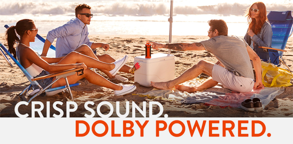 Crisp Sound. Dolby Powered.