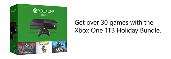 Get over 30 games with the Xbox One 1TB Holiday Bundle
